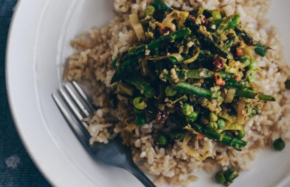 Brown Rice Asparagus