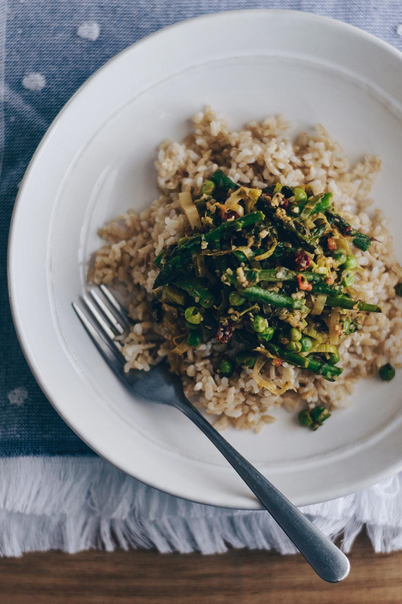 Brown Rice Asparagus